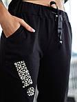 Женский спортивный костюм, 100% коттон, р-р С; М; Л (чёрный), фото 2