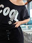 Женский спортивный костюм, 100% коттон, р-р С; М; Л (чёрный), фото 5