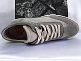 Комфортные летние кроссовки серые из нубука Detta, фото 8
