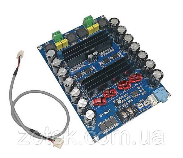 XH-M641 Підсилювач звуку TPA3116D2 2*100Вт 2.0 DC 12-24В з перетворювачем