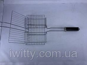Сетка для гриля с деревянной ручкой 20x30