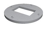 КЦП 3-10 (плита перекрытия ливнеприемника с отверстием под решетку)