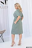 Літнє жіноче плаття прямого крою Розміри: 48-50, 52-54, 56-58, 60-62, фото 5