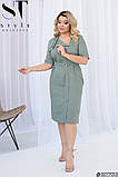 Літнє жіноче плаття прямого крою Розміри: 48-50, 52-54, 56-58, 60-62, фото 4