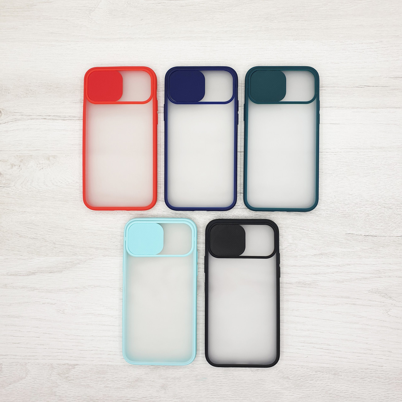 Чехол CASE для Apple iPhone 11 / 11Pro / 11ProMax (шторка на камеру) color
