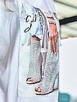 Женское платье, турецкий кулир, р-р универсальный 42-46 (белый), фото 3