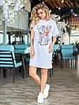 Женское платье, турецкий кулир, р-р универсальный 42-46 (белый), фото 5