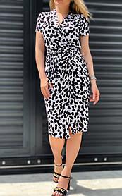 Стильне літнє плаття на запах з штапелю 26-441