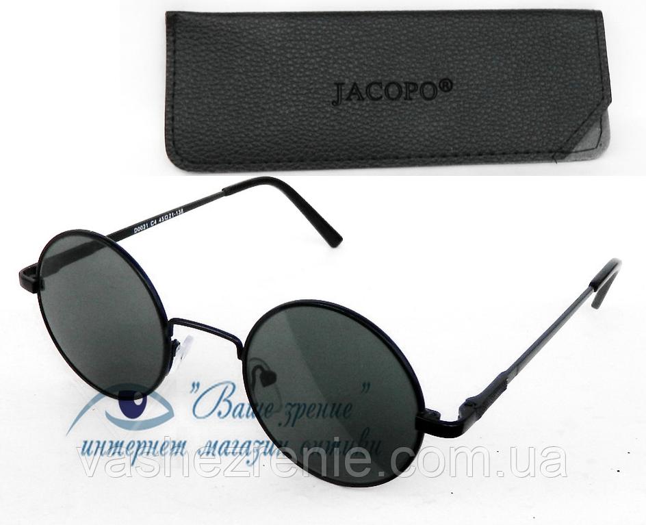 """Солнцезащитные очки """"круглые"""" (СТЕКЛО!) Код:7204"""