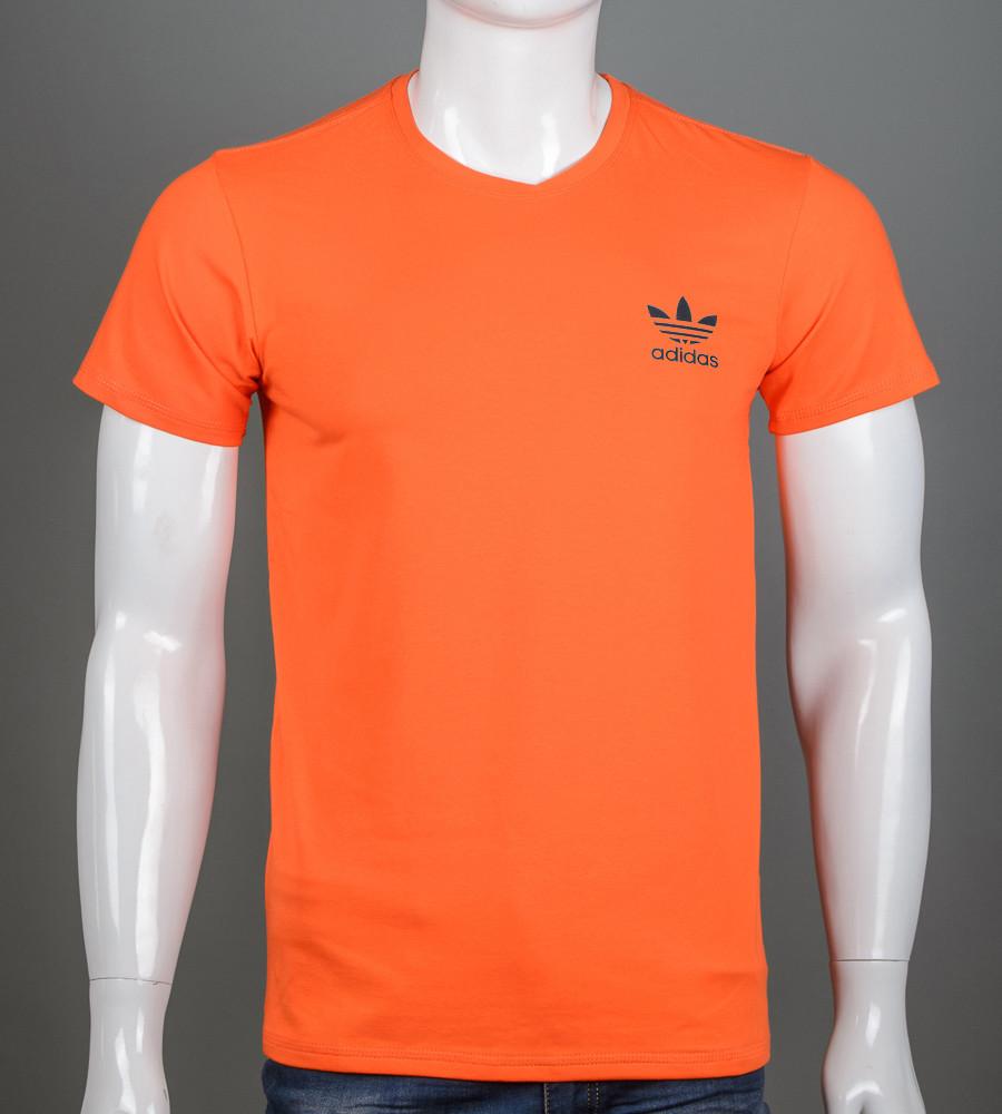 Футболка мужская Adidas (2111м), Морковный