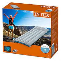 Надувной матрас для купания для плавания и сна пляжный на море велюровый резинотканевый с подголовником