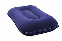 Надувная подушка BW 67121 синий велюр (Синий)