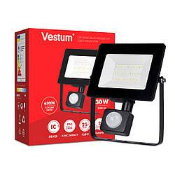 Vestum 30W 2900Лм 6500K светодиодный прожектор с датчиком движения IP65