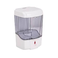 Дозатор для жидкого мыла Q-TAP Davcovac mydla DM600WP белый пластик 600мл сенсорный 77601