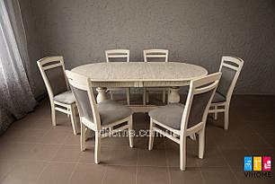 Обідній комплект: стіл Консул і стільці Сіріус M-mebel™