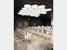 Світлодіодний світильник СОТА 80 см шестикутний SOTA 80 підвісний/накладний для інтер'єру