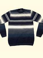 Мужской свитер в полоску больших размеров, состав 30% шерсть, 70% акрил, размеры 50-52, 54-56,56-58