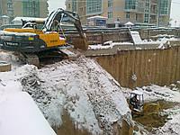 Разработка котлована - рытье траншей - земляные работы
