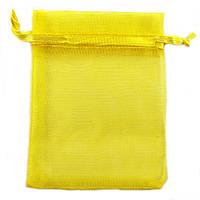Мешочек подарочный желтый из органзы 10x12 см, фото 1