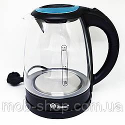 Чайник электрический Domotec MS-8110 2200W 1.8L (стеклянная колба) электрочайник с LED подсветкой