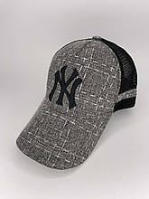 Практичная мужская комбинированная кепка с вышивкой NY