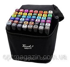 Набір скетч-маркерів 48 шт. для малювання двосторонніх Touch sketchmarker (TOUCH48-BL)