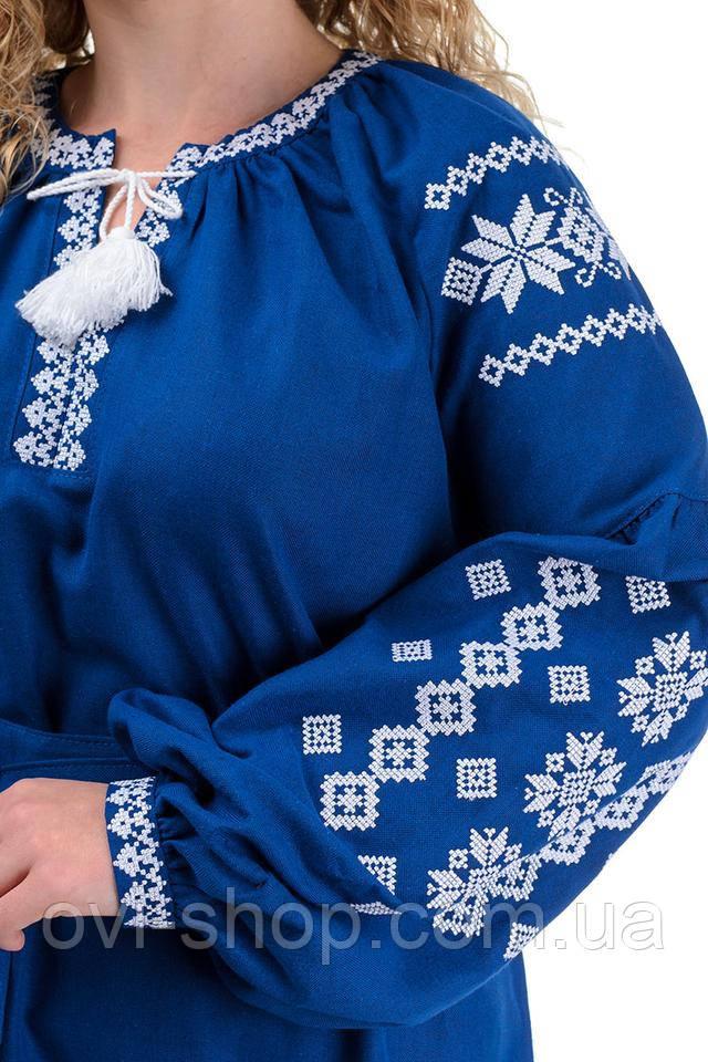 Женское платье вышиванка длинное