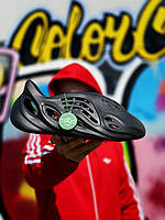 Тапочки жіночі Adidas Yeezy Foam RNNR / Адідас Ізі Фом РННР Чорні, Репліка, фото 1