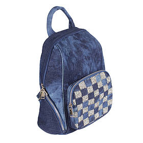 Сумка-рюкзак джинсова de esse Синя