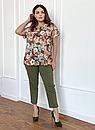Блуза великого розміру Флай квіти акварель, фото 2