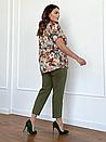 Блуза великого розміру Флай квіти акварель, фото 3