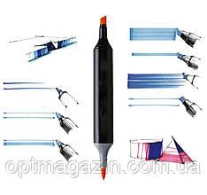 Набір скетч-маркерів 36 шт. для малювання двосторонніх Touch sketchmarker (TOUCH36-BL), фото 2