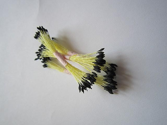 Тычинки для цветов черные кругло-остро маленькие 25шт.Украина - 00498