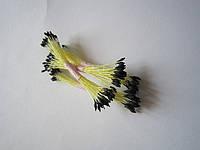 Тычинки для цветов черные кругло-остро маленькие 25шт.(код 00498)