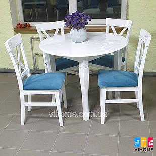 Обідній комплект: стіл Прованс і стільці Хілтон M-mebel™