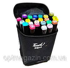 Набір скетч-маркерів 24 шт. для малювання двосторонніх Touch sketchmarker (TOUCH24-BL)