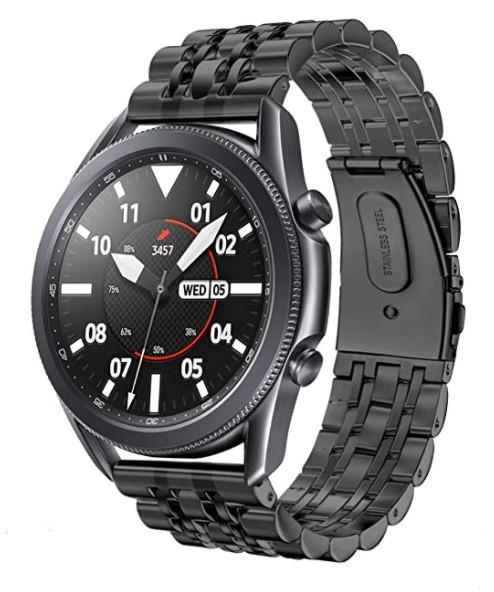 Браслет BeWatch для Samsung Galaxy Watch 3 45 mm classic Link Xtra стальной 22мм Black (1021401.11)