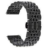 Браслет BeWatch для Samsung Galaxy Watch 3 45 mm classic Link Xtra стальной 22мм Black (1021401.11), фото 3