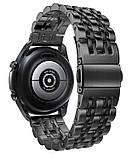 Браслет BeWatch для Samsung Galaxy Watch 3 45 mm Ремешок 22мм classic стальной Link Black (1021401.10), фото 2