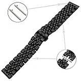 Браслет BeWatch для Samsung Galaxy Watch 3 45 mm Ремешок 22мм classic стальной Link Black (1021401.10), фото 4
