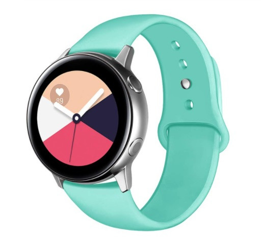 Ремешок BeWatch для Samsung Galaxy watch Active   Active 2 40   Active 2 44 силиконовый 20мм Мятный (1010397)