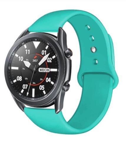 Ремінець BeWatch для Samsung Galaxy Watch 42mm | Galaxy Watch 3 41 mm силіконовий 20мм М'ятний (1010397)
