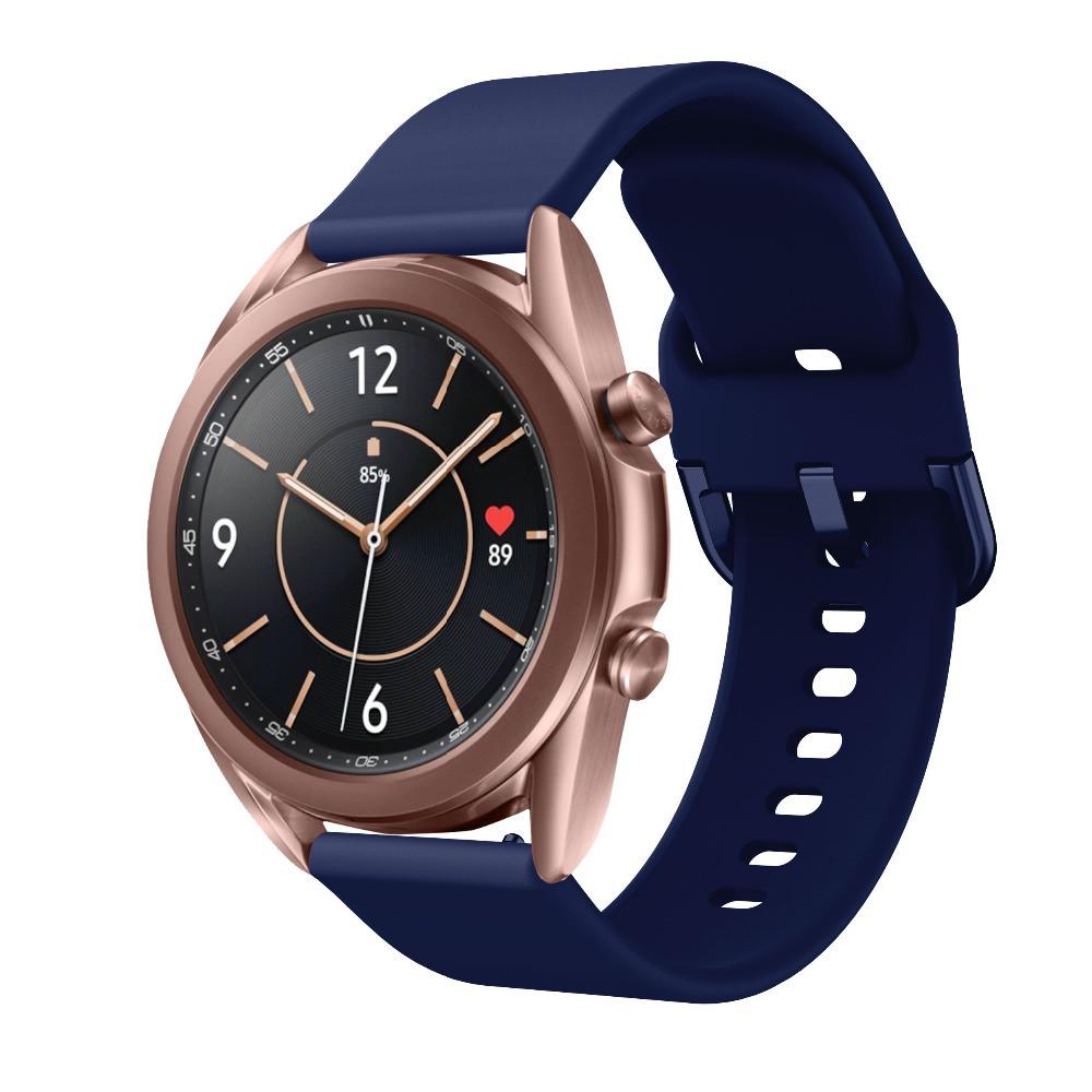 Ремінець для Samsung Galaxy Watch 3 41 мм силіконовий 20мм NewColor Темно-Синій (1012389)
