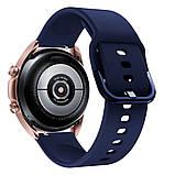 Ремешок для Samsung Galaxy Watch 3 41 мм силиконовый 20мм NewColor Темно-Синий (1012389), фото 2