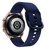 Ремінець для Samsung Galaxy Watch 3 41 мм силіконовий 20мм NewColor Темно-Синій (1012389), фото 2