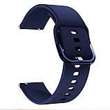 Ремінець для Samsung Galaxy Watch 3 41 мм силіконовий 20мм NewColor Темно-Синій (1012389), фото 4