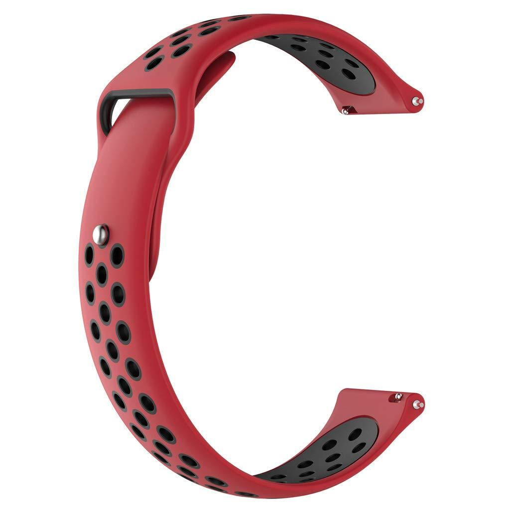 Ремешок BeWatch для Samsung Galaxy Watch 3 45 mm силиконовый 22мм перфорированный Красно-Черный (1020131)