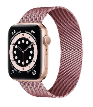 Браслет BeWatch для Apple Watch series 3 | 4 | 5 | 6 с шириной корпуса 38 | 40 мм Ремешок миланская петля Rose