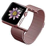 Браслет BeWatch для Apple Watch series 3 | 4 | 5 | 6 с шириной корпуса 38 | 40 мм Ремешок миланская петля Rose, фото 2