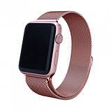 Браслет BeWatch для Apple Watch series 3 | 4 | 5 | 6 с шириной корпуса 38 | 40 мм Ремешок миланская петля Rose, фото 3